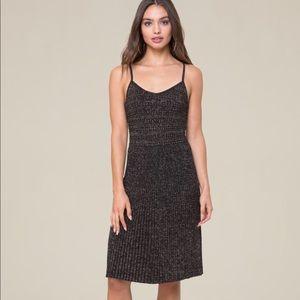 Bebe Pleated Cami Dress Black NWT Small